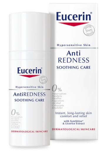 Eucerin AntiRedness, negovalna krema proti rdečici, 50 ml