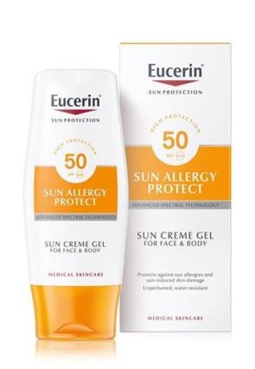 Eucerin Sun Allergy Protect kremni gel za zaščito pred soncem  - ZF 50, 150 ml