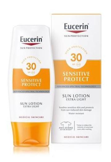 Eucerin Sun, ekstra lahek zaščitni losjon - ZF 30, 150 ml