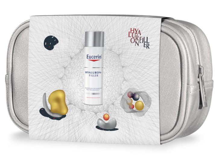 Paket Eucerin Hyaluron-Filler, dnevna krema za normalno do mešano kožo, 50 ml + darilo