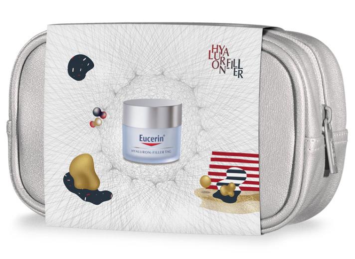 Paket Eucerin Hyaluron-Filler, dnevna krema za suho kožo, 50 ml + darilo