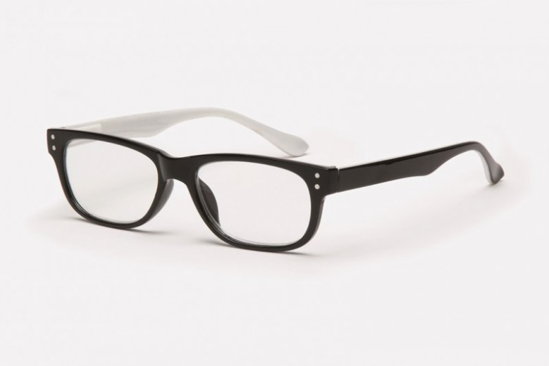 Filtral bralna očala F45.290.64 (+3,0), črno bela