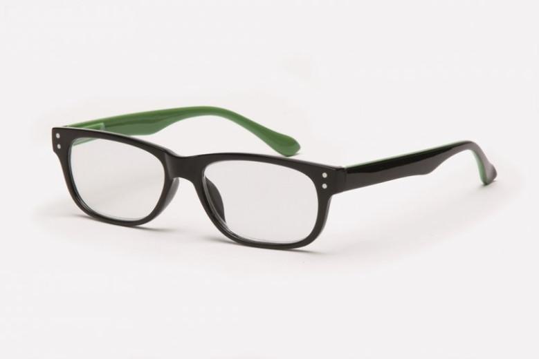 Filtral bralna očala F45.297.54 (+3,5), črno zelena