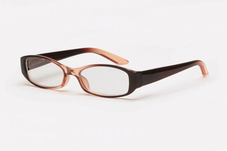 Filtral bralna očala F45.304.04 (+1,0), rjava kristal