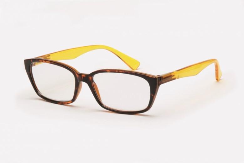 Filtral bralna očala F45.335.44 (+1,5), rjavo rumena