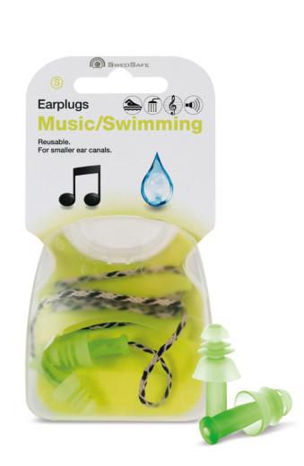 Swedsafe Ušesni čepki glasba/plavanje – S, 1 par