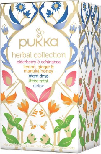 Pukka Herbal Collection, pet ekoloških čajev, 5 x 4 vrečke