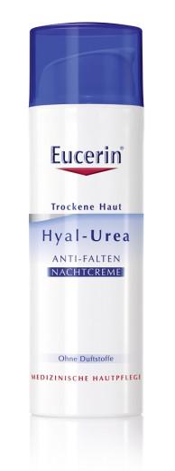 Eucerin Hyal-Urea, nočna krema proti gubam, 50 ml