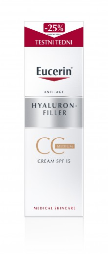 Eucerin Hyaluron-Filler, CC krema - Medium, 50 ml