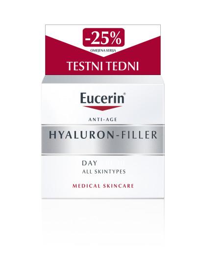 Eucerin Hyaluron-Filler, dnevna krema za suho kožo, 50 ml
