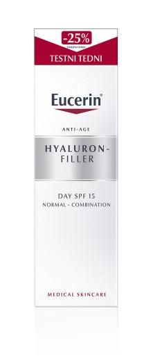 Eucerin Hyaluron-Filler, dnevna krema za normalno do mešano kožo, 50 ml
