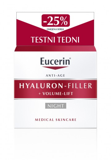 Eucerin Hyaluron-Filler + Volume - Lift nočna krema, 50 ml