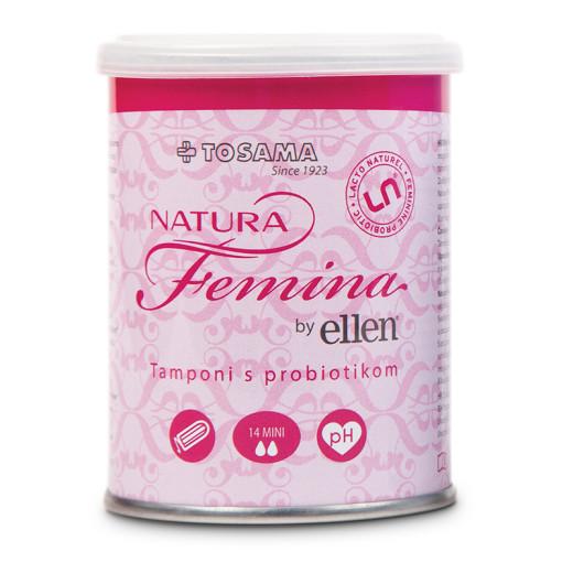 Natura Femina by Ellen Tamponi s probiotiki - mini, 14 tamponov