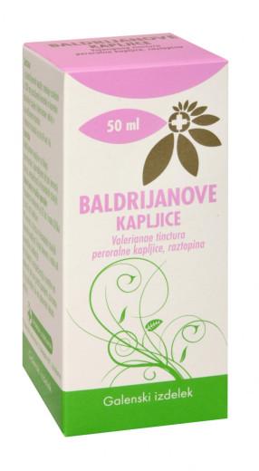 Baldrijanove kapljice, peroralna raztopina, 50 ml