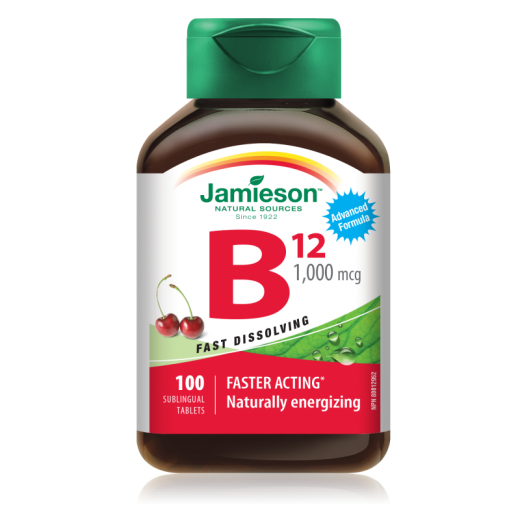 Jamieson Vitamin B12 1000 μg, 100 podjezičnih tablet