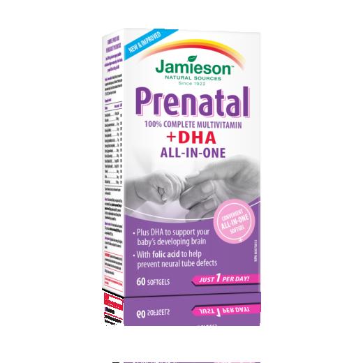 Jamieson Prenatal + DHK, 60 kapsul