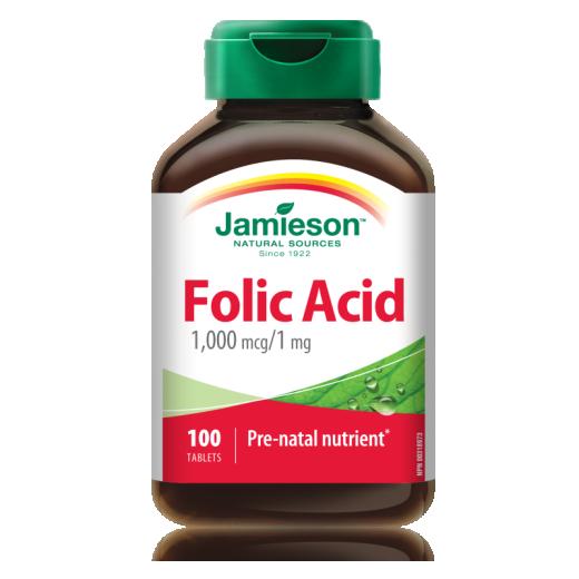 Jamieson Folna kislina, 100 tablet