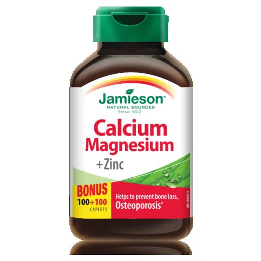 Jamieson Kalcij, magnezij in cink, 200 tablet