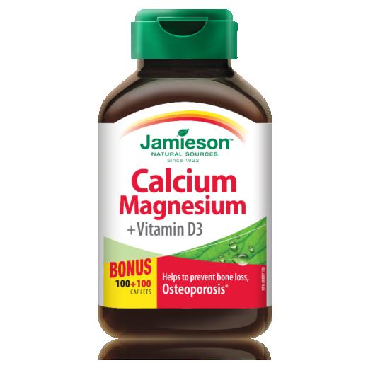 Jamieson Kalcij, magnezij in vitamin D3, 200 tablet
