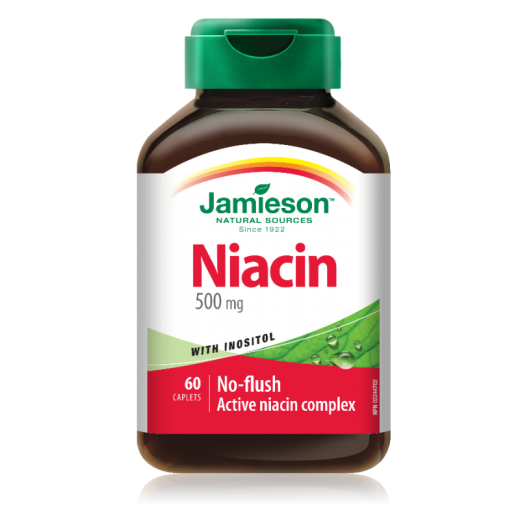 Jamieson Niacin z inozitolom, 60 tablet