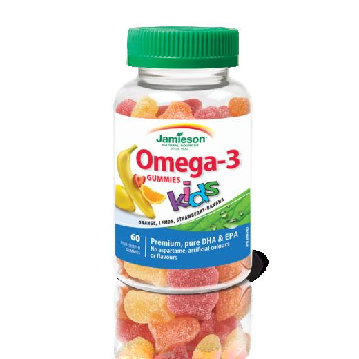 Jamieson Omega 3 za otroke, 60 želejčkov