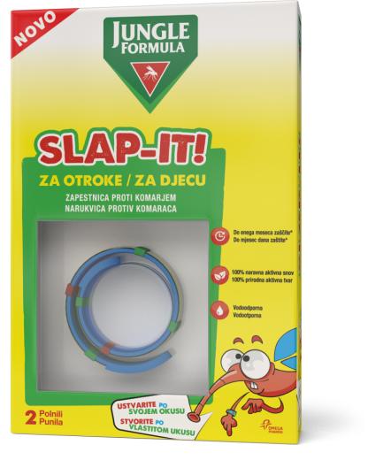 Jungle Formula Slap-It, zapestnica proti komarjem, 2 polnili