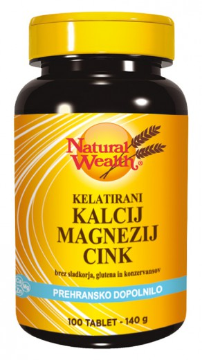 Natural Wealth Kalcij, magnezij, cink, 100 tablet