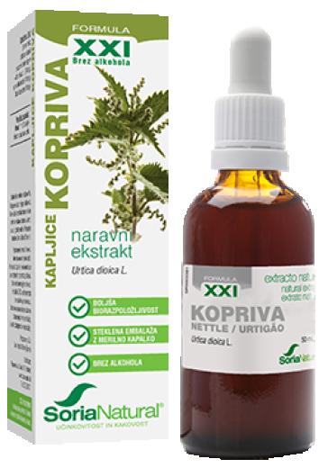 Soria Natural Kopriva XXI kapljice, 50 ml