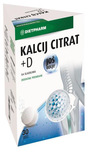 DietPharm Kalcijev Citrat + Vitamin D,  30 šumečih tablet