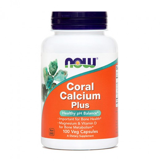 NOW Koralni kalcij Plus, 100 kapsul