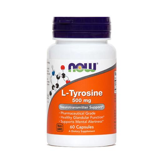 NOW L-Tirozin 500 mg, 60 kapsul