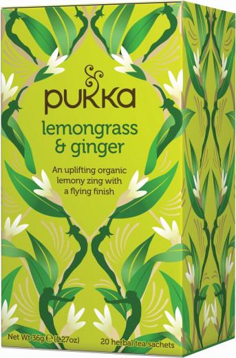 Pukka Lemongrass & Ginger, ekološki čaj, 20 vrečk