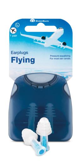 Swedsafe Ušesni čepki za uporabo v letalu – L, 1 par