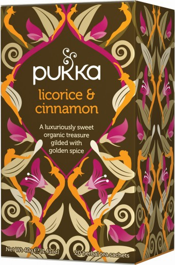 Pukka Licorice & Cinnamon, ekološki čaj, 20 vrečk