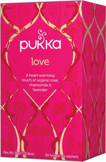 Pukka Love, ekološki čaj, 20 vrečk
