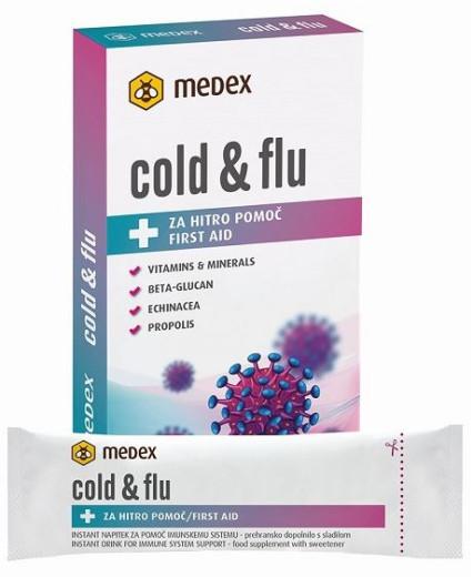 Medex Cold & Flu instant napitek 10 g, 10 vrečk