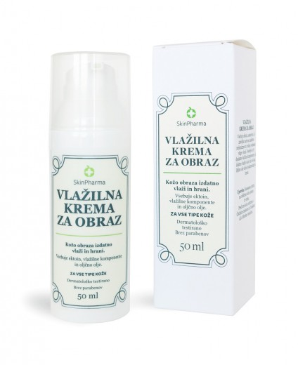 SkinPharma, vlažilna krema za obraz, 50 ml
