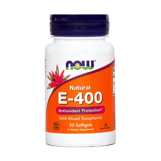 NOW Vitamin E 400 i.e., 50 mehkih kapsul