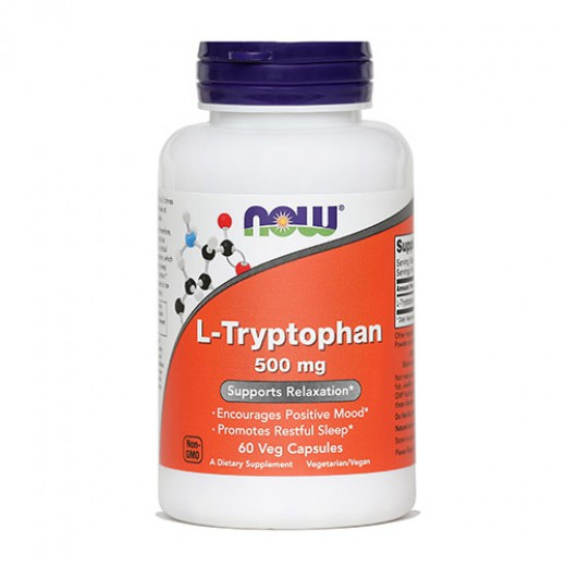 NOW L-Triptofan 500 mg, 60 kapsul