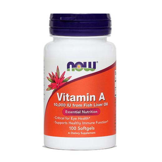 Now Vitamin A 10.000 I.E., 100 kapsul