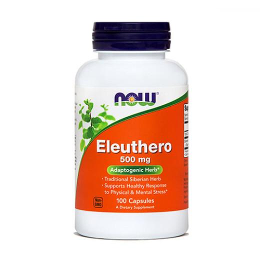 NOW Eleuthero 500 mg, 100 kapsul