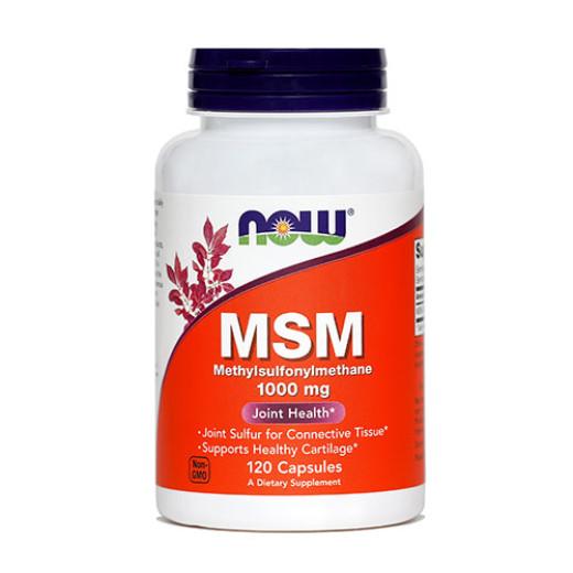 NOW MSM 1000 mg, 120 kapsul