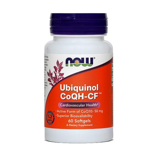 NOW Ubiquinol 50 mg, 60 mehkih kapsul