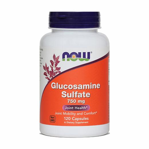 NOW Glukozaminijev sulfat 750 mg, 120 kapsul