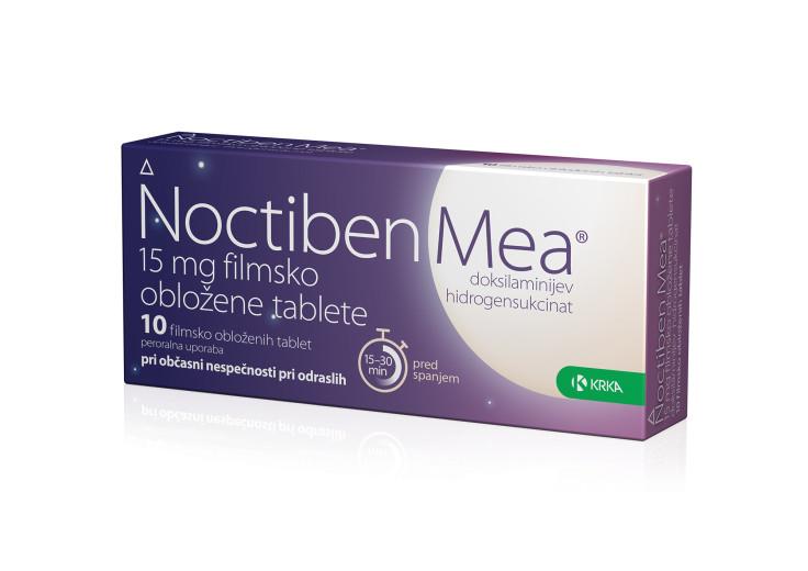 Noctiben Mea 15 mg, 10 filmsko obloženih tablet