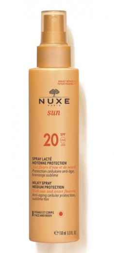 Nuxe Sun razpršilo za zaščito pred soncem - ZF20, 150 ml