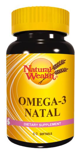 Natural Wealth Omega 3 Natal, 60 mehkih kapsul