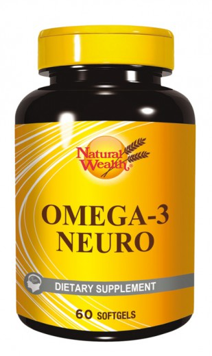 Natural Wealth Omega 3 Neuro, 60 mehkih kapsul