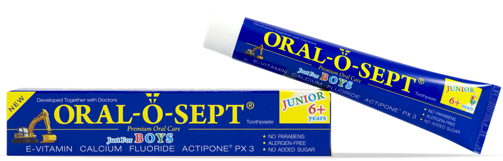 Oral-o-sept, Junior 6+, Boys, zobna pasta, 75 ml