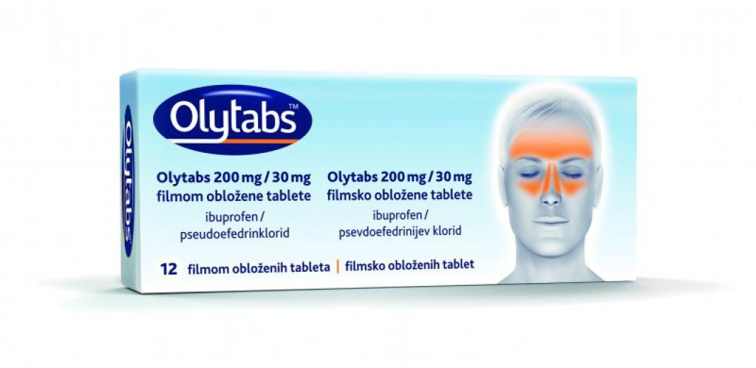 Olytabs 200 mg/30 mg, 12 filmsko obloženih tablet